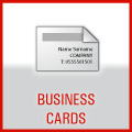 Business Cards printed full colour single or double sided. They are the most important things about your business.