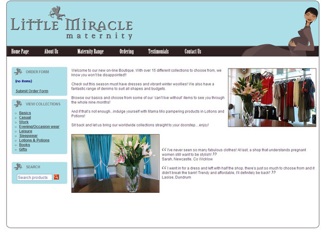 Little Miracle web design work